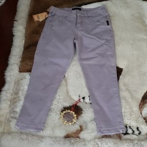 Brand New Silver Lavender Avery Skinny Crop Pants